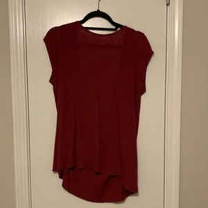 Crimson Open Back Free People Top